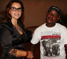 Jim Justus Nyamu, Research Scientist and Conservationist in Nairobi, Kenya, with Christina LaMonica