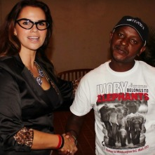 Jim Justus Nyamu, Research Scientist and Conservationist in Nairobi, Kenya, with Christina LaMonica
