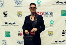 Christina LaMonica in Times Square for the US Fish and Widlife Services; Ivory Crush in June, 2015.