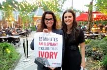 Ivory Crush Reception at Tavern on the Green in New York City. Food Critic, Chef, and Television Host; Katie Lee of the Food Network and Christina LaMonica.