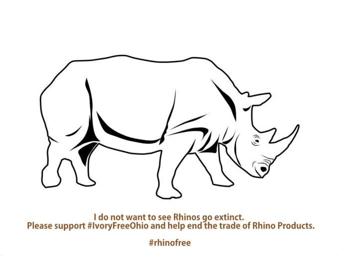 Ivory Free Ohio Rhino Template