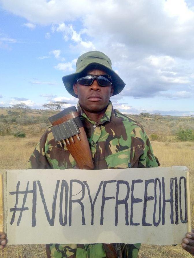 "Protector of the Giants; Ranger Johnny ""Mad-dog"" Abenja. Nanyuki, Kenya."